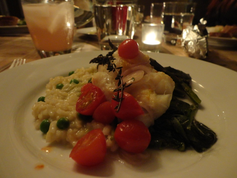 Cod en papillote & spring risotto