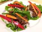 Korean beef lettuce wraps using homegrown carrots & beef from a friend's cow. Sweet, savory, salty, spicy and lots of crunch!